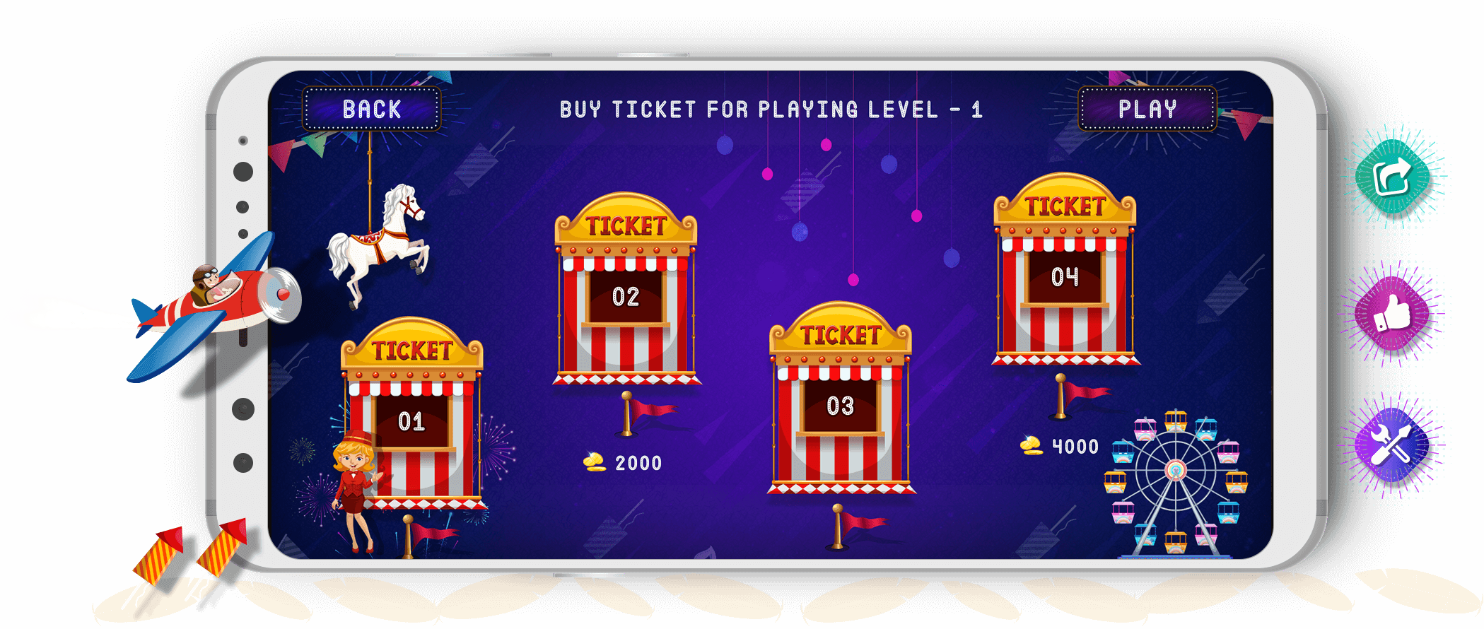 Tambola Game Ticket Screen